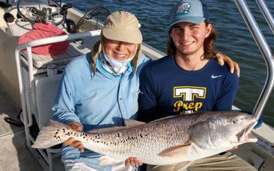 Over Sized Redfish Fishing Charter in Marathon Beach, Florida